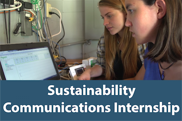 Click this button to go to the Sustainability Communications Internship page