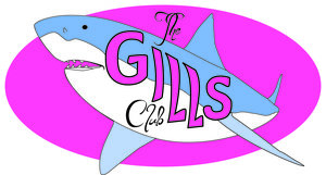 Logo for the Atlantic White Shark Conservancy's Gills Club