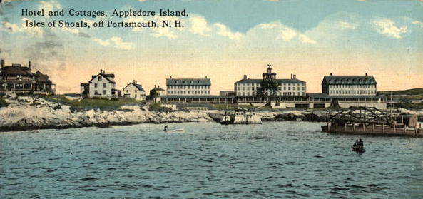 Image of a postcard of the Appledore House Hotel