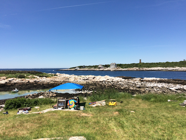 Photo of the Smuttynose Island archaeological dig site